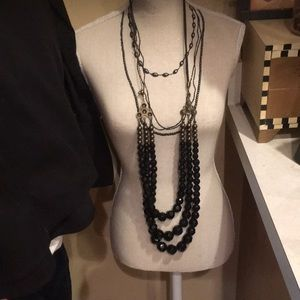 Jewelry - New necklace and bracelet set black